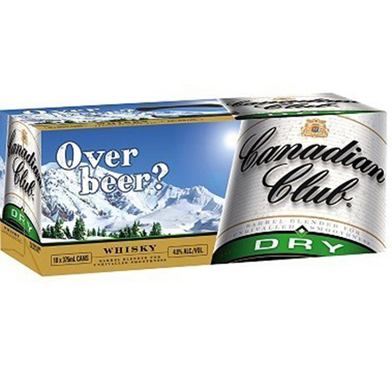 canadian club dry 10pk cans canadian club dry 10pk cans